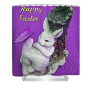 Happy Easter Card 4 Shower Curtain