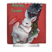 Happy Easter Card 5 Shower Curtain