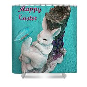 Happy Easter Card 6 Shower Curtain