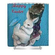 Happy Easter Card 7 Shower Curtain