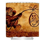 Happy Easter Coffee Art Shower Curtain