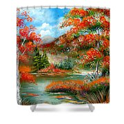 Happy Ever After Autumn  Shower Curtain