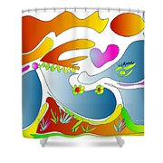 Happy Face Of Spring Shower Curtain