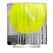 Happy Freezing Birthday Shower Curtain
