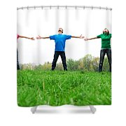Happy Friends Shower Curtain