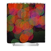 Happy Grapes Shower Curtain