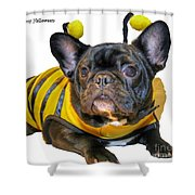 Happy Halloween Card Shower Curtain