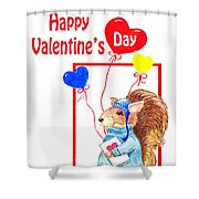 Happy Happy Valentines Day Shower Curtain