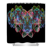 Happy Heart Shower Curtain