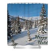 Happy Holidays - Winter Wonderland Shower Curtain