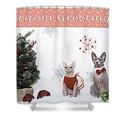 Happy Holidays 105 Shower Curtain
