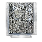 Happy Holidays Greeting - Icicles On Trees Shower Curtain