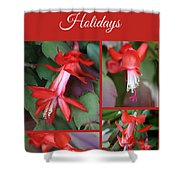 Happy Holidays Natural Christmas Card Or Canvas Shower Curtain