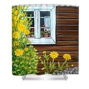 Happy Homestead Shower Curtain