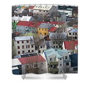 Happy Houses Shower Curtain