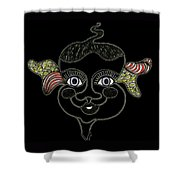 Happy Licorice Girl Shower Curtain