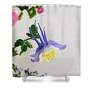 Happy Little Columbine Shower Curtain