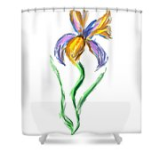 Happy Mother's Day Iris Shower Curtain