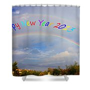 Happy New Year 2013 Shower Curtain