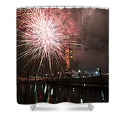 Happy New Year 2014 B Shower Curtain
