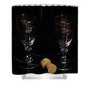 Happy New Years Toast Shower Curtain