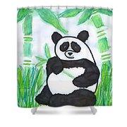 Happy Panda O.o. Shower Curtain