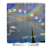 Happy Rainbows Shower Curtain