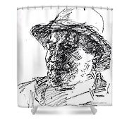 Happy Roger Shower Curtain