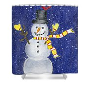 Happy Snow Shower Curtain