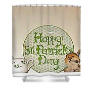 Happy St Patrick's Day  Shower Curtain