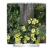Happy Yellow Flowers Shower Curtain