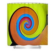 Happy Swirl Shower Curtain