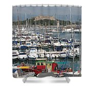 Harbor Antibes  Cote D'azur Shower Curtain