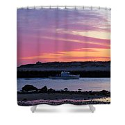 Harbor At Dawn Shower Curtain
