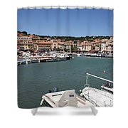 Harbor Cassis Shower Curtain