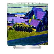 Harbor De Grace Shower Curtain