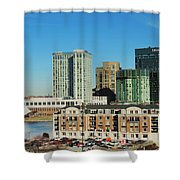 Harbor East Complex In Baltimore From Federal Hill Shower Curtain