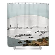 Harbor Entrance At Sakonnet Point In Little Compton Ri Shower Curtain