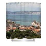 Harbor Entrance Marseille Shower Curtain