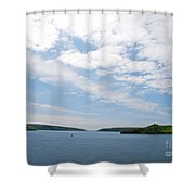 Harbor Entrance Shower Curtain
