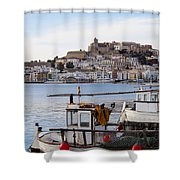 Harbor In Ibiza Town Shower Curtain