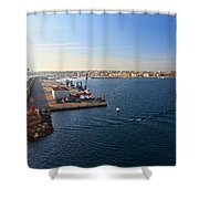 harbor in Porto Torres Shower Curtain