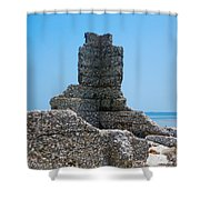 Harbor Island Ghosts Shower Curtain