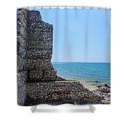 Harbor Island Ruins 1 Shower Curtain