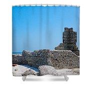 Harbor Island Ruins Shower Curtain