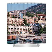 Harbor, Kalkan, Turkey Shower Curtain