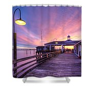 Harbor Lights Shower Curtain