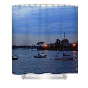 Harbor Lights Shower Curtain