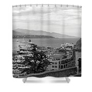 Harbor Lookout - Monte Carlo Shower Curtain