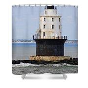Harbor Of Refuge Light  Shower Curtain
